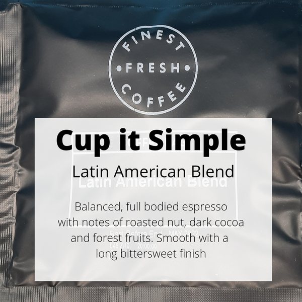 Latin American Blend _ Cup It Simple _ Ground Coffee Bag - Well Roasted Coffee