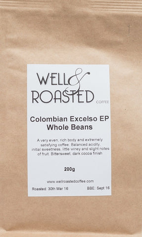 Colombian Excelso EP _  Rain Forest Alliance _  Huila Region _ 200g - Well Roasted Coffee