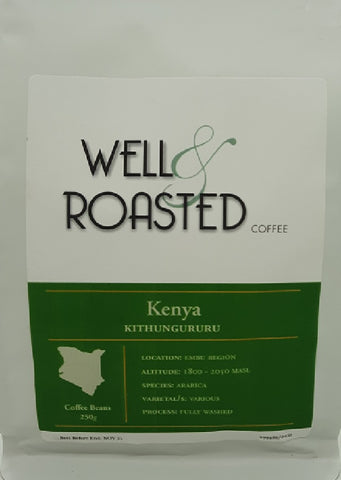 Kenya _ Kithungururu _ Single Origin _ Limited Edition - Well Roasted Coffee