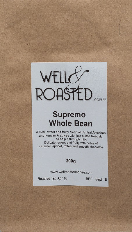 Supremo Espresso Blend - Well Roasted Coffee