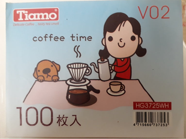 Tiamo V02 Filter Papers _ 100 Pack - Well Roasted Coffee