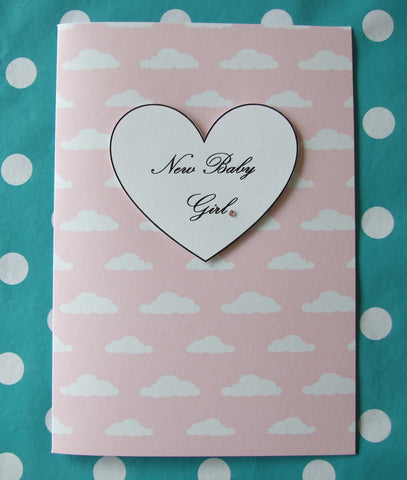 'New Baby Girl' card