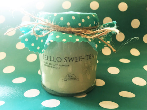 'Hello sweet-tea' fragranced soy wax candle