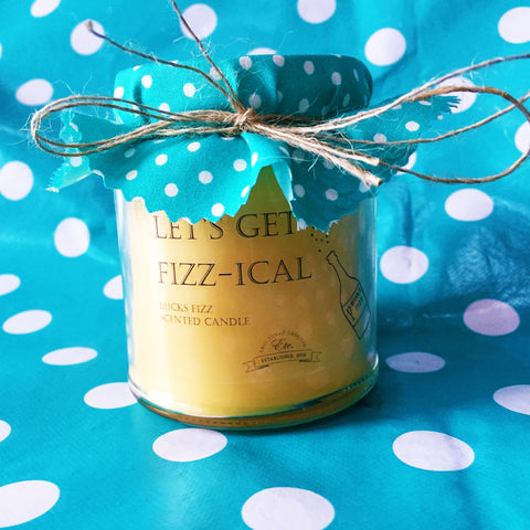 'Let's get Fizz-ical' fragranced soy wax candle