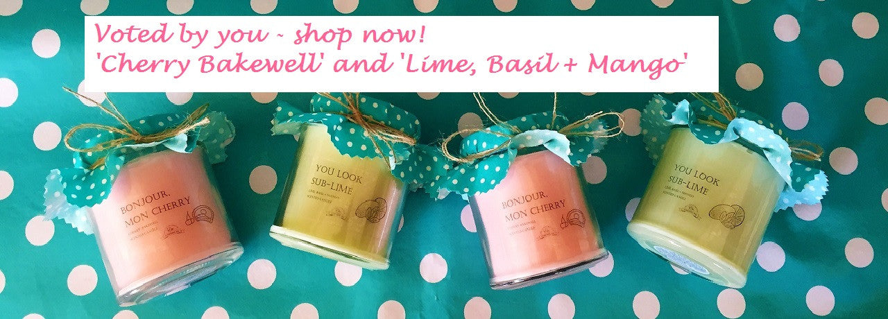 Cherry and Lime candles