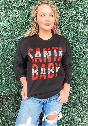 Santa Baby | Black | Long Sleeve | Fleece