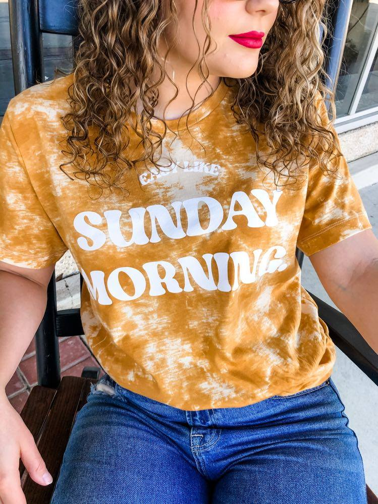 Easy Like Sunday | Gold Tie Dye