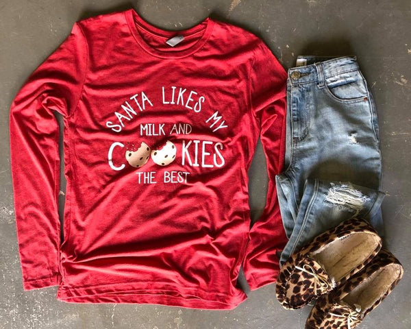 Milk And Cookies | Red | Long-sleeve