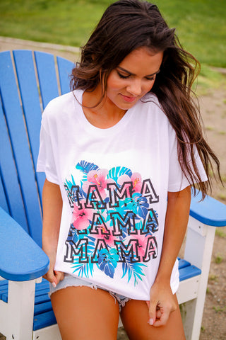 Tropical Mama | White | Short Sleeve