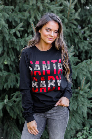 Santa Baby | Long Sleeve | Black