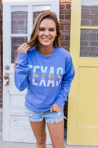 Texas | Blue | Long Sleeve