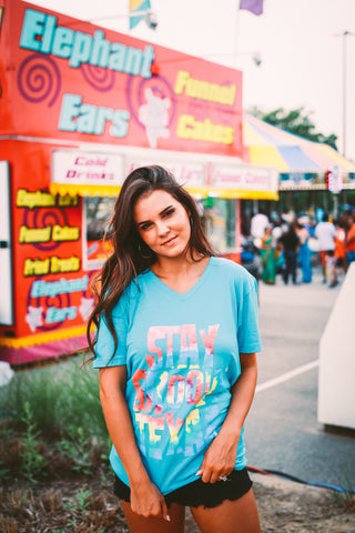 Stay Groovy Texas | Blue | Short Sleeve