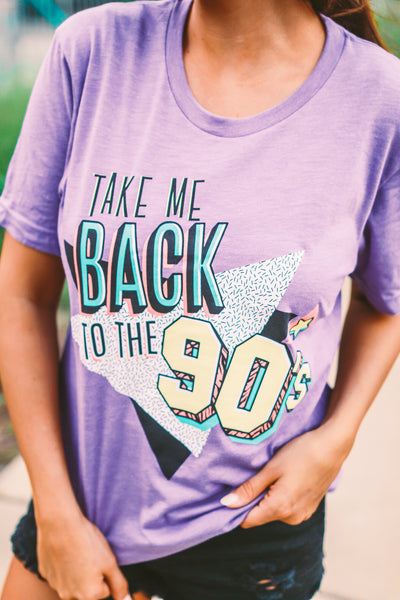 Take Me Back to the 90's  | Purple | Short Sleeve