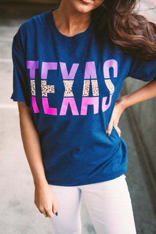 Texas | Navy | Short Sleeve