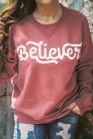 Believer | Cayenne | Long Sleeve | Fleece