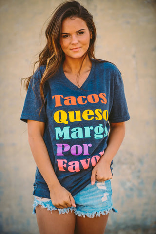 Tacos, Queso, Margs | Charcoal | Short Sleeve