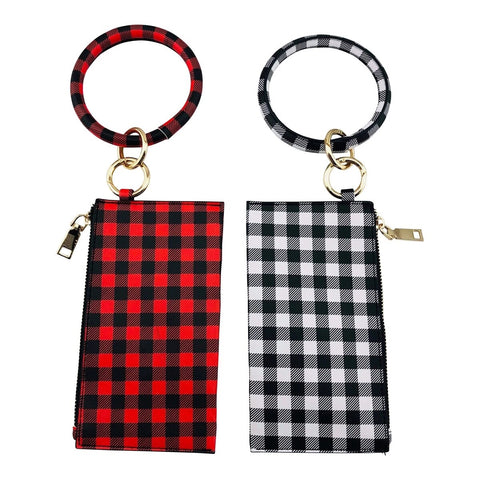 Plaid Key Chain Clutch