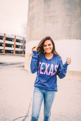Texas | Navy | Long Sleeve