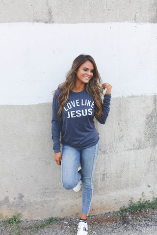 Love like Jesus | Navy | Long Sleeve