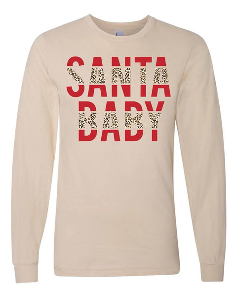 Santa Baby | Long Sleeve | Cream *sold as is