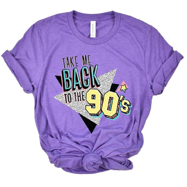 Take Me Back to the 90's  | Heather Purple | Short Sleeve