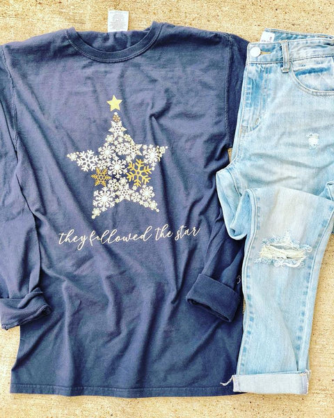 They Followed The Star | Slate | Long Sleeve