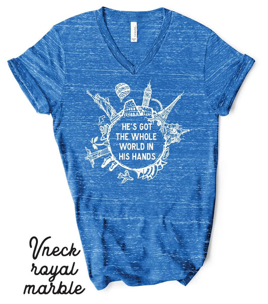 V-Neck | Whole World | Marble