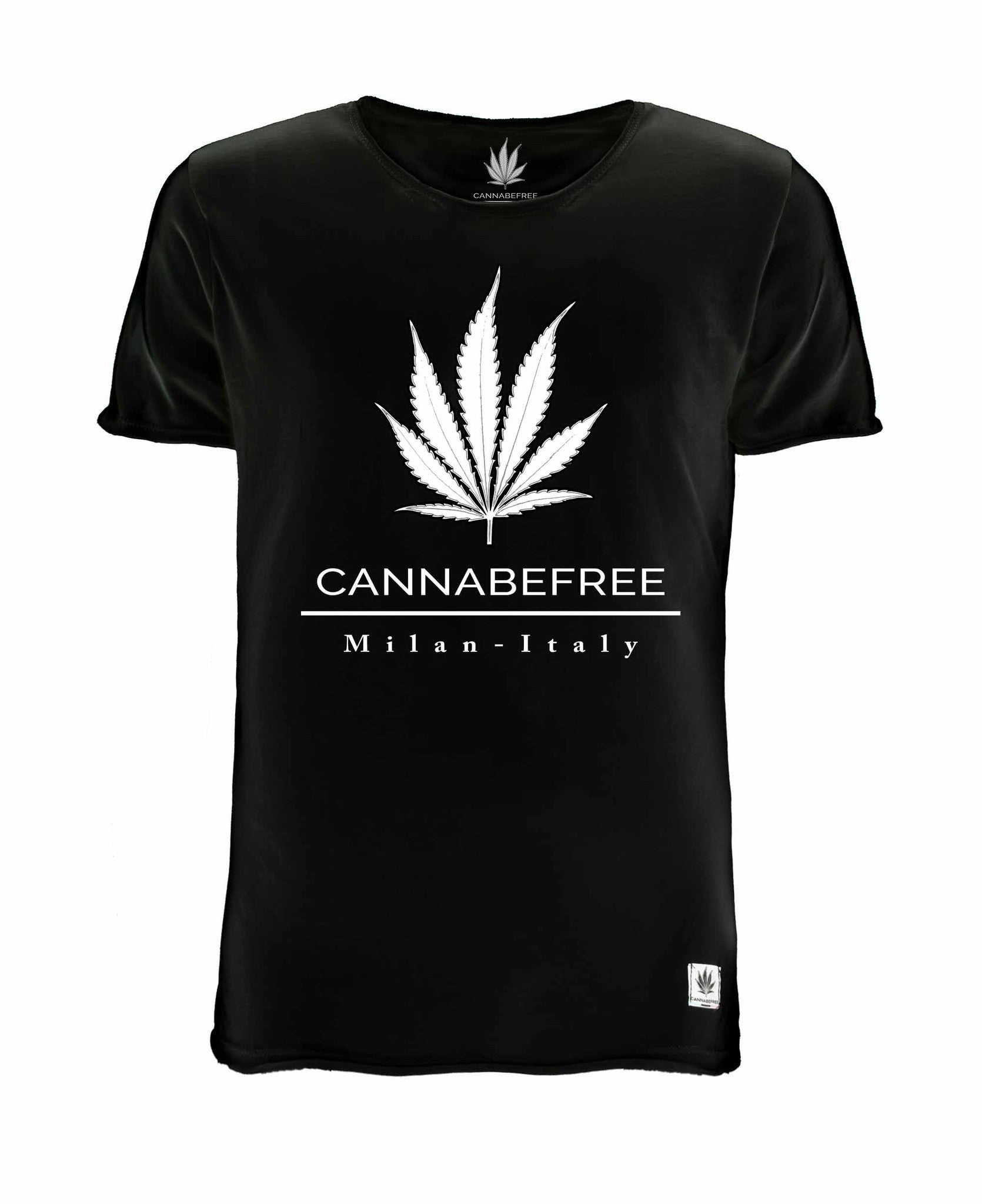 CANNABEFREE LOGO BLACK T-SHIRT