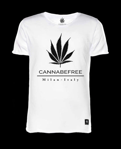 CANNABEFREE LOGO WHITE T-SHIRT