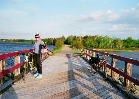Vera on the Confederation Trail between Morell and St. Peters Bay