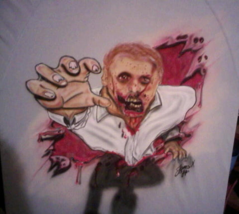 Airbrushed ZOMBIE T-Shirt or Hoodie - Perfection Airbrushing
