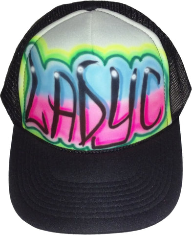 Airbrushed Name Design hat - Perfection Airbrushing