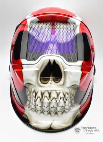 Canadian Patriot Skull ESAB Sentinel A50 WELDING Helmet - Perfection Airbrushing