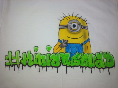 Airbrushed Custom #MINION T Shirt any SIZE - Perfection Airbrushing