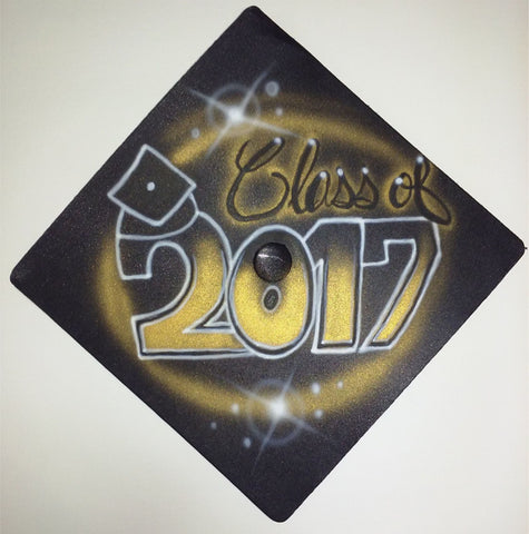 Personalized Graduation Hat - Perfection Airbrushing