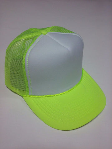 OTTO BRAND Trucker Hat Neon Yellow - Perfection Airbrushing