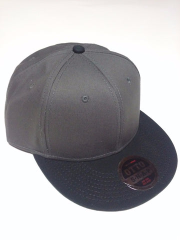 OTTO BRAND Snapback Hat Black/ Charcoal Grey - Perfection Airbrushing