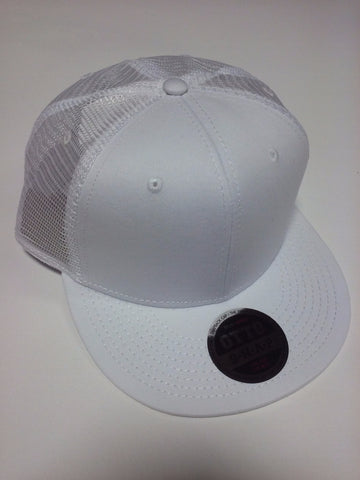 OTTO BRAND Snapback Hat Mesh Back White - Perfection Airbrushing