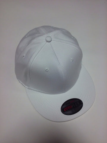 """OTTO FLEX"" STRETCHABLE BRUSHED COTTON TWILL FLAT VISOR PRO STYLE CAPS (S/M) (L/XL) White - Perfection Airbrushing"