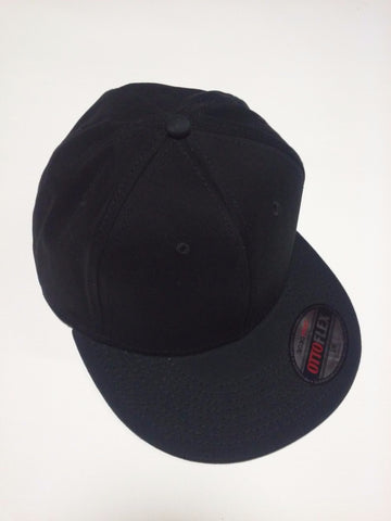 """OTTO FLEX"" STRETCHABLE BRUSHED COTTON TWILL FLAT VISOR PRO STYLE CAPS (S/M) (L/XL) Black - Perfection Airbrushing"