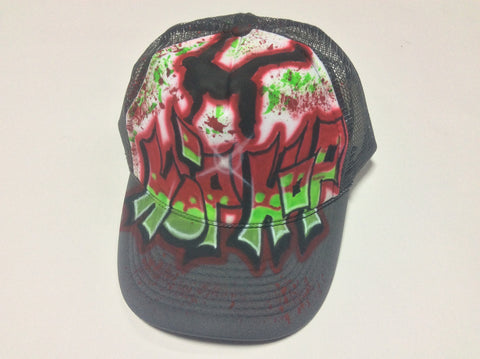 Airbrushed Paint Splatter Hip Hop Dance hat - Perfection Airbrushing