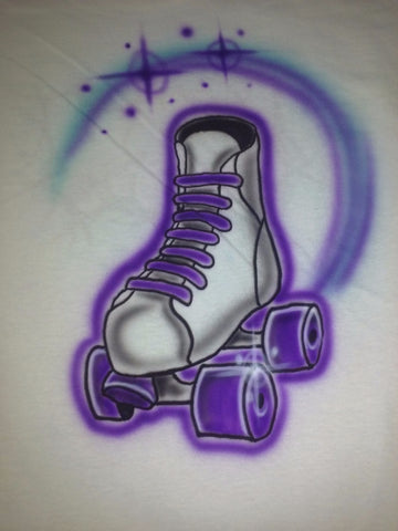 ROLLER SKATE ROLLER DERBY Tshirt or Hoodie - Perfection Airbrushing