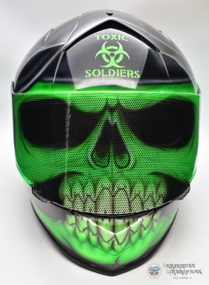 Soldier SKULL Motorcycle Helmet - Perfection Airbrushing