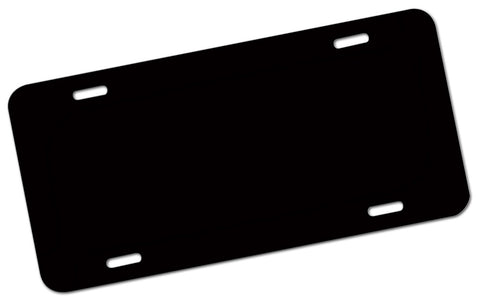 Blank License Plate TAG Black - Perfection Airbrushing