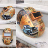 Mans True Love 55 Chevy 65 Impala WELDING Helmet - Perfection Airbrushing