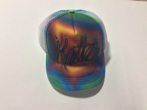TIE DIE Name Design hat - Perfection Airbrushing
