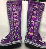 West Blvd Knee High Laceup Boots - Perfection Airbrushing
