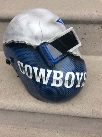 Cowboys Themed Welding Helmet - Perfection Airbrushing
