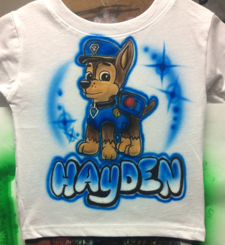 Chase Paw Patrol Tshirt or Hoodie - Perfection Airbrushing