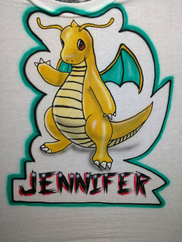 """DRAGONITE"" POKEMON GO Name Design T-Shirt or Hoodie - Perfection Airbrushing"